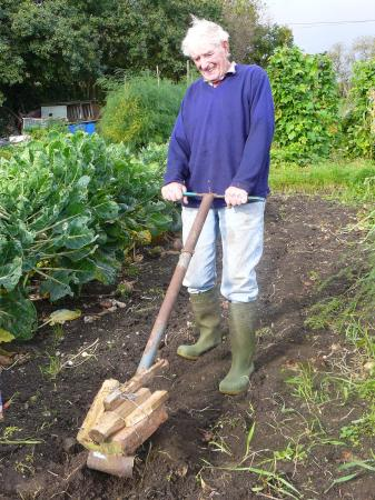 Sandy Buckley, allotment holder extraordinaire